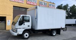 2006 Isuzu NPR-HD 16′ Van Body Truck with Lift Gate